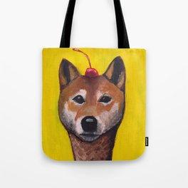 """Cherry on Pup"" Shiba Inu Tote Bag"