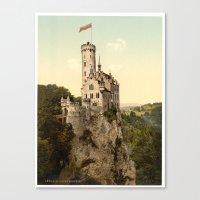 lichtenstein Canvas Prints featuring Lichtenstein Castle by BravuraMedia