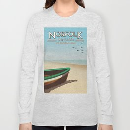 Norfolk Vintage Style travel poster Long Sleeve T-shirt