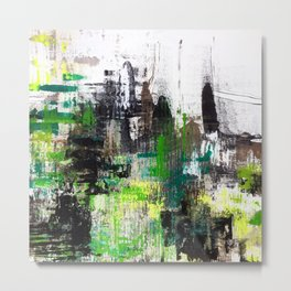Paint06 Green System Metal Print