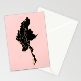 Myanmar map Stationery Cards