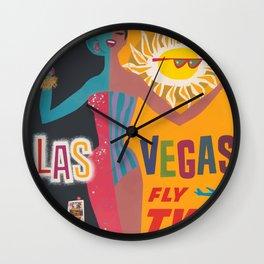 Vintage Las Vegas Poster Wall Clock