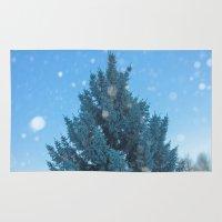 christmas tree Area & Throw Rugs featuring Christmas tree  by Svetlana Korneliuk