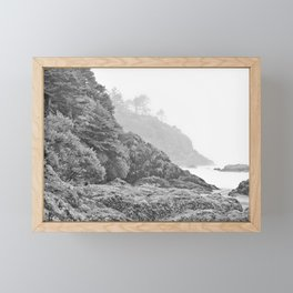 Washington Coast Mist Fog Shoreline Beach Pacific Ocean Long Beach Beards Hollow Forest Northwest Framed Mini Art Print