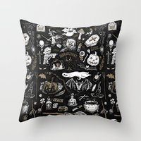 witchcraft Throw Pillows featuring Witchcraft by pakowacz