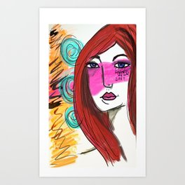 She lived Art Print