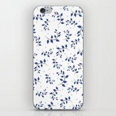 Botanical indigo pattern iPhone Skin