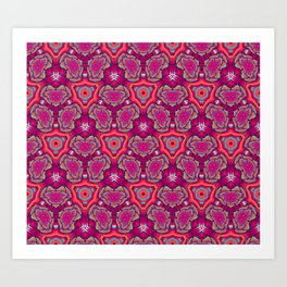Butterfly Effect Abstract Pattern Art Print
