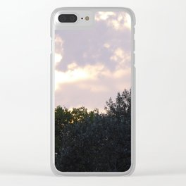 Purple sky and clouds Clear iPhone Case