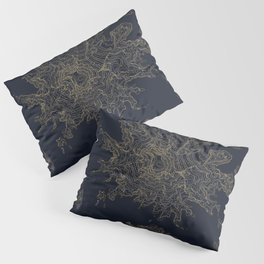 Mount Rainier, WA Topographic Contour Map Pillow Sham