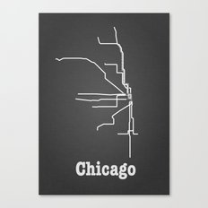 Chicago Subway Poster Canvas Print