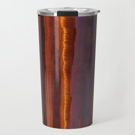 Wildfire Watercolor Stripe Travel Mug