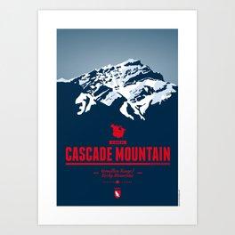 Cascade Mountain Art Print
