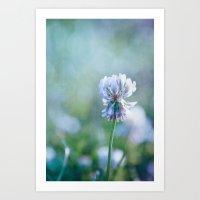 clover Art Prints featuring clover by Iris Lehnhardt