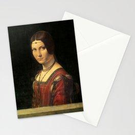 Leonardo da Vinci - Ritratto di donna, dice La Belle Ferronnière Stationery Cards
