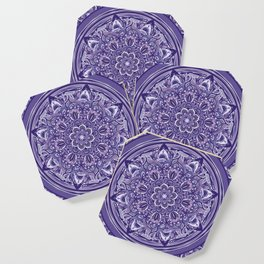Great Purple Mandala Coaster