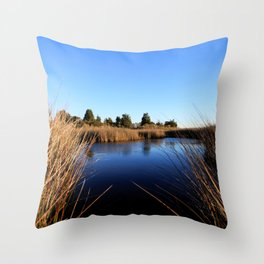 Watercolor Landscape, Janes Island 03, Maryland Throw Pillow