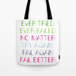 Try Again. Fail Again. Fail Better. - Minimal Tote Bag