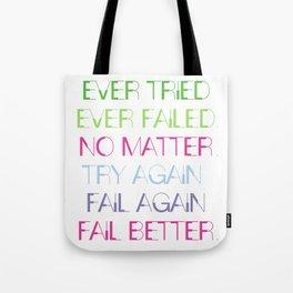 Try Again. Fail Again. Fail Better. - Minimal Tote Bag
