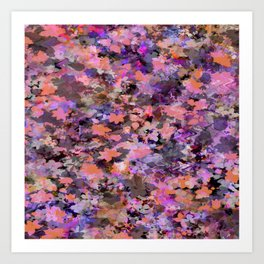 Automne in pink and orange Art Print
