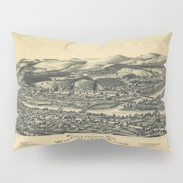 West Lebanon, New Hampshire and White River Junction, Vermont (1889) Pillow Sham