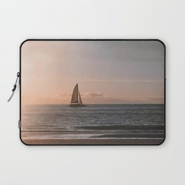 A Sailboat at Sunset - Clearwater, Florida - Photography  Laptop Sleeve