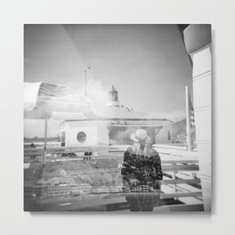 """The Lady of Malibu"" Black and White Holga photo Metal Print"