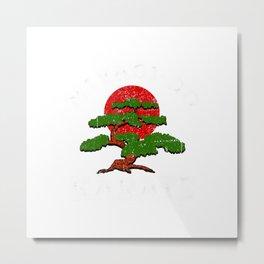 Miyagi-Do Karate Fight Bonsai Tree Funny T-Shirt Metal Print