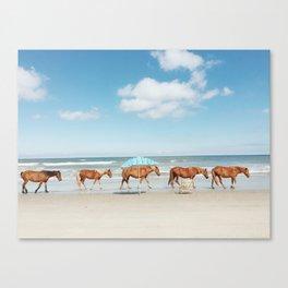 Summer Coast Horse Stride Canvas Print