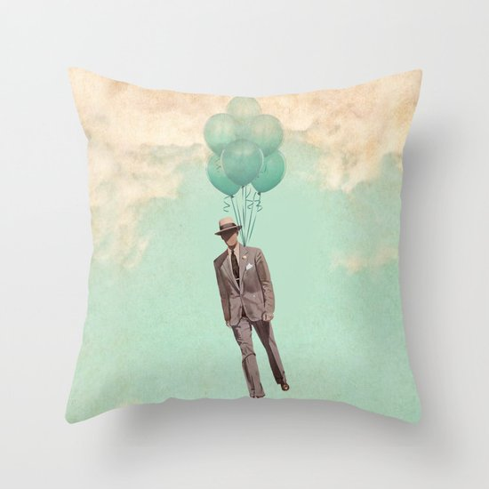 The light suit Throw Pillow