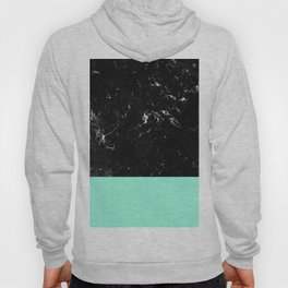 Mint Meets Black Marble #1 #decor #art #society6 Hoody