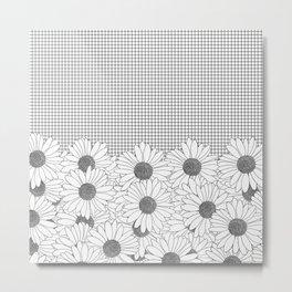 Daisy Grid Metal Print