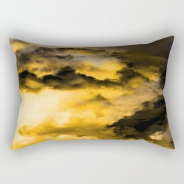 Vitality - Cloudy Abstract In Orange And Black Rectangular Pillow