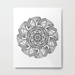 Modern Snowflake Metal Print