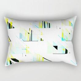 black&neon / triangle Rectangular Pillow
