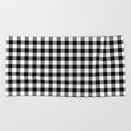 Gingham (Black/White) Beach Towel