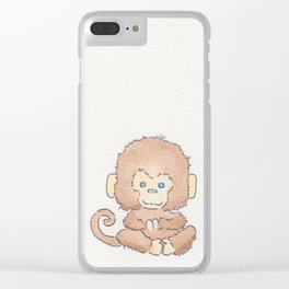 Just monkeying around Clear iPhone Case