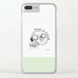 Skateboarding Skull Clear iPhone Case