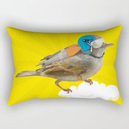 Little bird on little cloud Rectangular Pillow