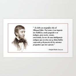 Emerson Quote Art Print