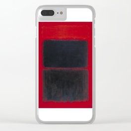 1957 Light Red Over Black by Mark Rothko Clear iPhone Case