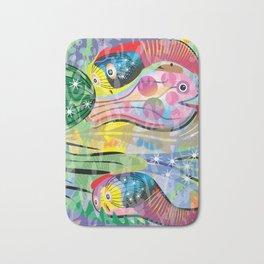 Hippy Fish in Rainbow Glow Bath Mat