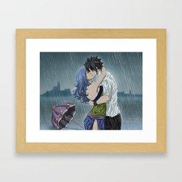Gruvia - Rain Framed Art Print