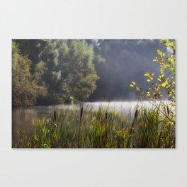 Autumn Mist at Mallards Pike Canvas Print