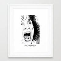 prometheus Framed Art Prints featuring PROMETHEUS by Six Pixel Design