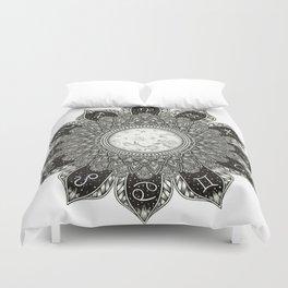 Astrology Signs Mandala Duvet Cover