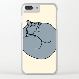 Sleeping Cat 2 Clear iPhone Case