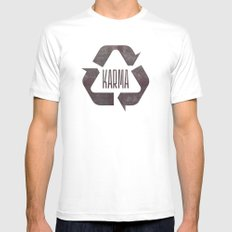 karma Mens Fitted Tee White SMALL