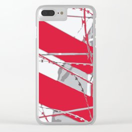 barbed wire on the scaffold Clear iPhone Case