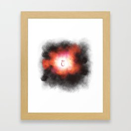 Beginning or Implosion Framed Art Print